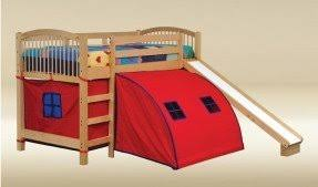 bunk bed with slide and tent. Bunk Bed With Slide And Tent H