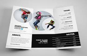 free dance flyer templates free dance brochure template