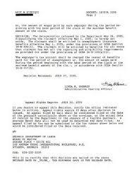 Dept Labor Unemployment Certification How Write Appeal Letter 20 728