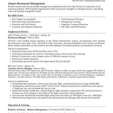 Best Resume Template Restaurant Manager About Restaurant Manager
