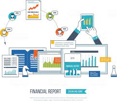 Financial Report Consulting Teamwork Project Management And Vector