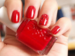 Nail art designs red color - how you can do it at home. Pictures ...