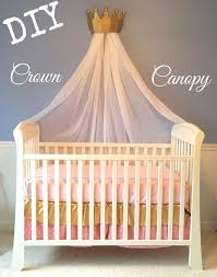 9. canopy crib made for a prince or a princess
