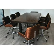 office wooden table. solis rebus reclaimed wood table and bonded leather upholstered accent office chairs 9piece conference wooden