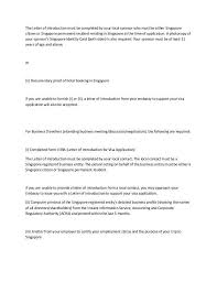 Self Covering Letter For Singapore Tourist Visa Adriangatton Com