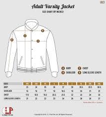 Delong Jacket Size Chart El Print Varsity Jacket