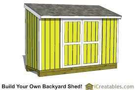 lean to shed plan building an outdoor diy plans