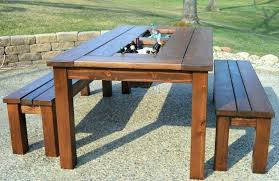 large size of bowman wood picnic table style outdoor dining set with bench seats faux plans
