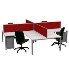 office workstation desks. plain desks cubit 4 way pod workstation office desks with screens throughout