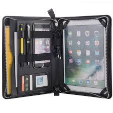 Designer Padfolio Designer Zipper Organizer Padfolio For 11 10 5 9 7 Inch Ipad Pro Black