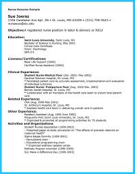 Icu Nurse Resume Examples Nurse Resume Template Free Nursing Cv