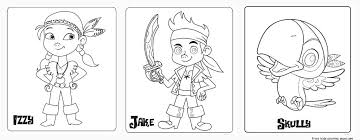 neverland pirates coloring free printable coloring pages for