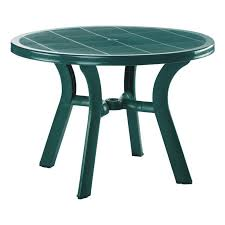 compamia truva resin round dining table patio dining