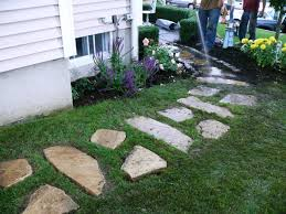 flagstone sidewalk ideas. clean up and replant grass flagstone sidewalk ideas