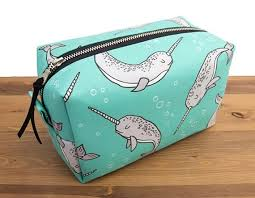 narwhal gifts narwhal bag cosmetic bag toiletry bag women zipper pouch