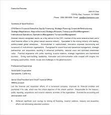 Cfo Resume Templates Human Resources Executive Resume Sample Cfo ...
