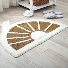 half circle door mats half round fan shape chenille doormat non slip rug pad carpet room half circle door mats