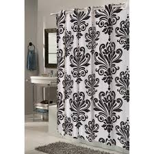 ez on beacon hill polyester shower curtain in black on white com