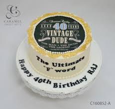 40th Birthday Cake Celebrations Custom Cakes Cakes And Desserts