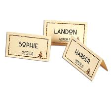 Holiday Placecards Gold Holiday Placecards Holiday Templates Astrobrights