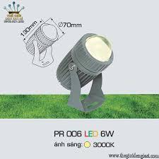 Đèn Pha Cột LED Anfaco PR006 LED 6W ɸ70