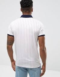 fila vintage polo. fila vintage striped polo shirt in white men shirts