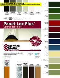 Central States Metal Color Chart Color Coil Charts