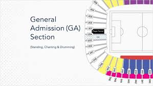 General Admission Seating Map Vancouver Whitecaps Fc