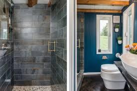 pebble floor shower stall