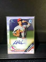 Austin Warner 2019 1st Bowman Chrome Auto Cardinals | eBay