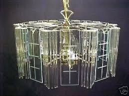 replacement chandelier glass panels beveled regency two tier brass