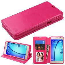 samsung on5 case. mybat flip stand leather wallet samsung galaxy on5 case - hot pink myphonecase.com
