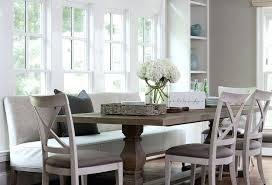dining table with upholstered bench and chairs corner set ikea