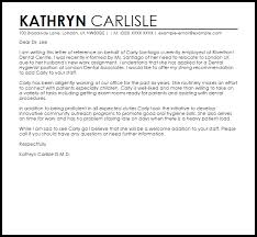 Letters Of Reference For A Job Dental Hygienist Reference Letter Example Letter Samples