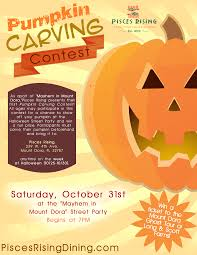 Pumpkin Carving Contest Flyers Mayhem In Mount Dora Pisces Rising