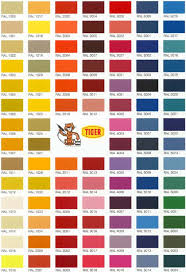 Tiger Color Chart Resetod Ral Color Chart