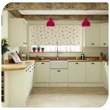 Red Roller Blinds Kitchen Feathered Friends Apple Roller Blind