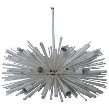 24 white supernova chandelier made in america by lou blass with 24 lights