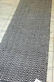black and white runner rug cotton runner rug image is loading chevron rug runner black white black and white runner rug