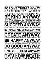 Mother Teresa Quotes Love Anyway Adorable Mother Teresa Quotes Love Anyway Captivating Mother Teresa Quotes