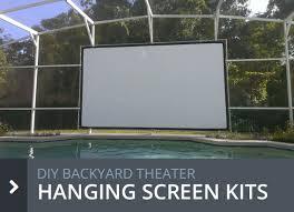 Backyard Theater Outdoor Movie Screens