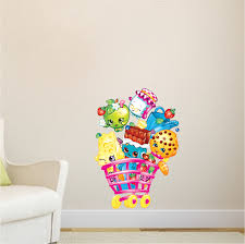 Small Picture Girls Shopkin Bedroom Wall Decals Girl Wall Decal Murals