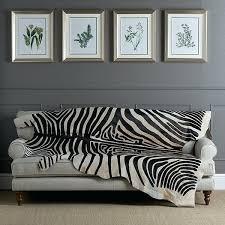 zebra print cowhide rug uk