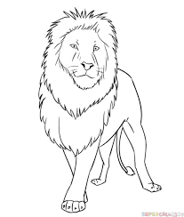 lion drawing. Interesting Drawing How To Draw A Cartoon Lion To Lion Drawing
