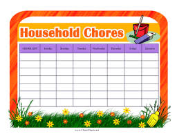 Blank Chore Chart For Adults Chore Charts