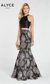 Alyce Paris 60335 Two Piece Jacquard Formal Gown