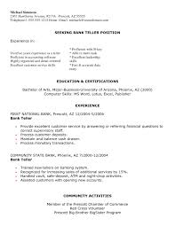 Resume For Bank Teller Bestresume Com