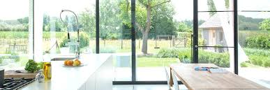 window wall cost full length glass wall in open plan kitchen and dinning area giving view window wall cost