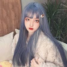 <b>MANWEI</b> 60CM <b>Lolita</b> Long straight hair Bangs Cute Ombre Heat ...