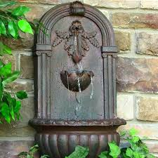 garden wall fountains water features water fountain with bottle filler for schools garden wall fountains water